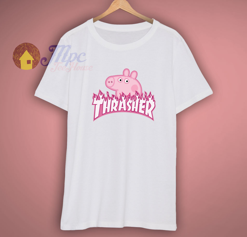 2eddc048907bf Peppa Pig X Trasher Magazine T Shirt For Men's, Women's, Teen, and Adult