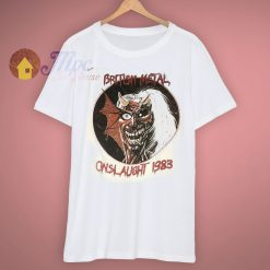 British Metal On Slaught Tour Vintage Iron Maiden T Shirt