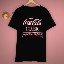 Coke Classic Enjoy The Feeling Cocacola 1980s T Shirt