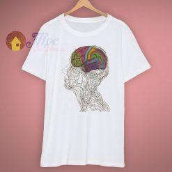 Comfortable Natural Brain Colourful Brain Punk T Shirt