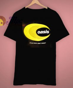 Do you Know What I Mean Vintage 90s Oasis Concert T Shirt