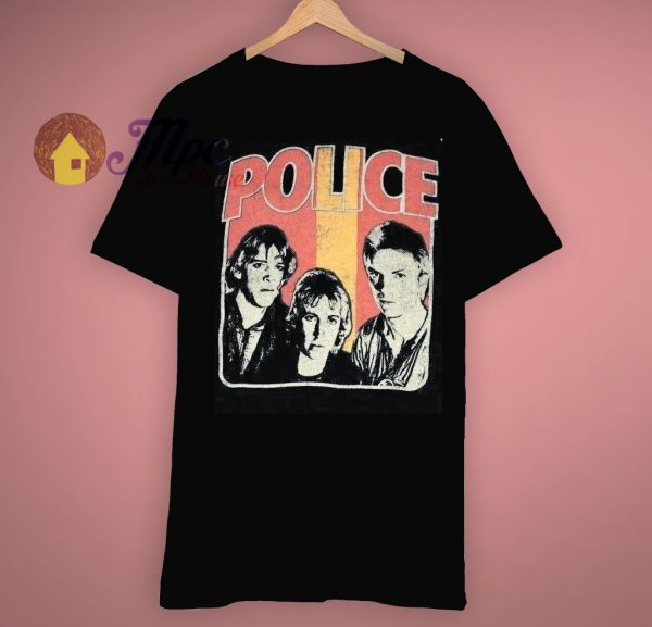Edition Trunk True Vintage Police Band Print Concert T Shirt