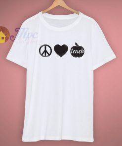 Grades School Peace Love Teacher Day School T Shirt
