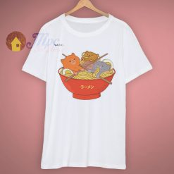Heavy Cats And Ramen Noodles Lover T Shirt