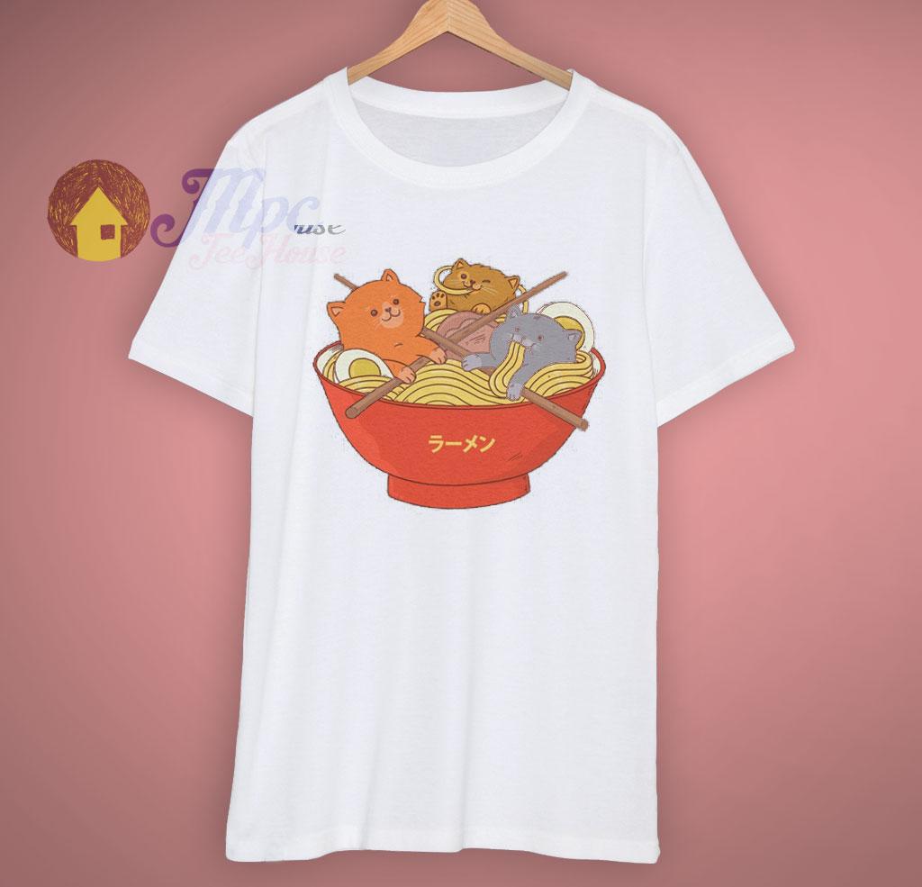 ec4140e99 Heavy Cats And Ramen Noodles Lover T Shirt - Mpcteehouse