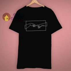 Line Art Aesthetic Creation Hands T Shirt