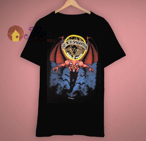 Mob Rules Tour Concert Vintage 80s Black Sabbath T Shirt