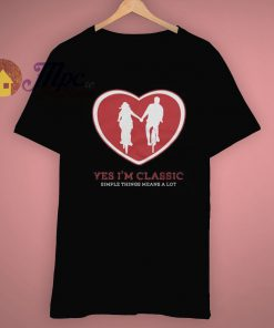 Simple Short Love Things Yes I'm Classic T Shirt