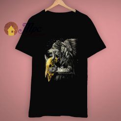 American Indian Chief Native Wolf T Shirt