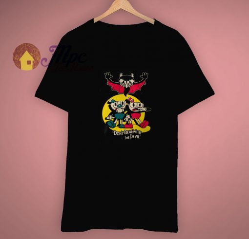 Cool Funny Cuphead x Pulp Fiction T Shirt