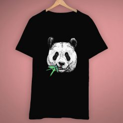 Face Panda Chewing Bamboo Animal Cute T Shirt