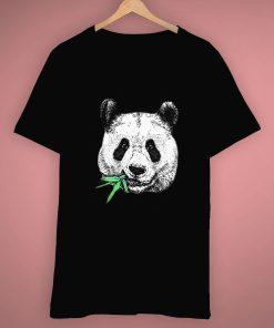 Face Panda Chewing Bamboo Animal Cute T Shirt