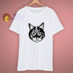 Two Colours Aesthetic Cat Head Cute T Shirt
