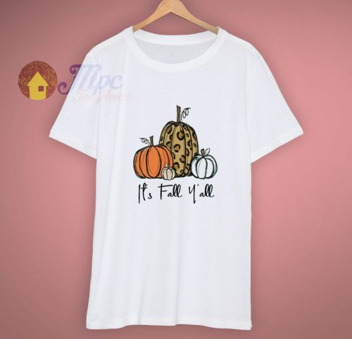 Cheetah Its Fall Yall Leopard Pumpkin Halloween T Shirt