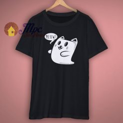 Ghost Cat T Shirt Horror Funny Scary Halloween New