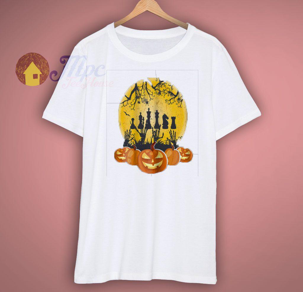 Halloween Pumpkin Chess T Shirt