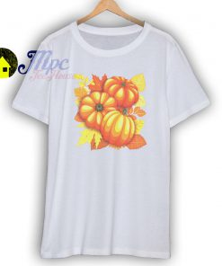 Pumpkins and Autumn Leaves Party T Shirt