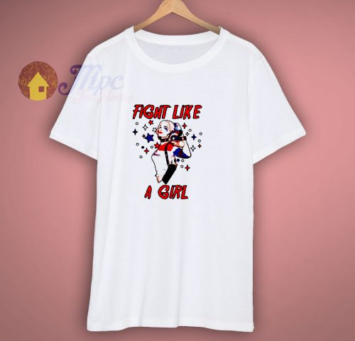 Fight Like a Girl Gang Squad Harley Quinn T Shirt