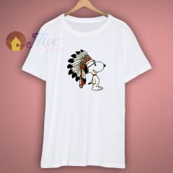 Indian Snoopy White T Shirt
