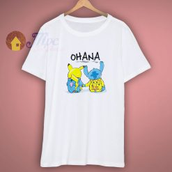 Ohana Pikachu Stitch Shirt