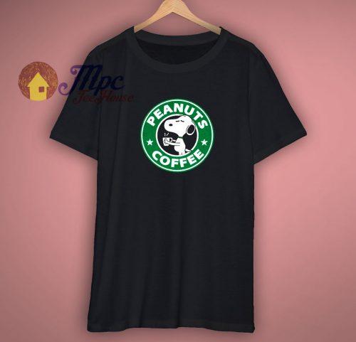 Peanuts Coffee Logo T Shirt