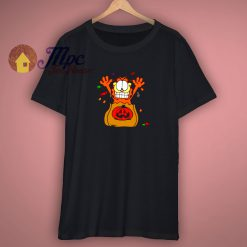 Retro Garfield Cartoon Halloween Treats T Shirt