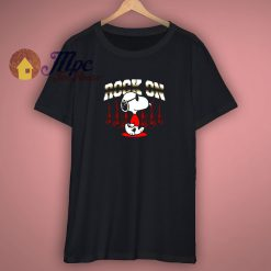 Rock On Snoopy Black T Shirt
