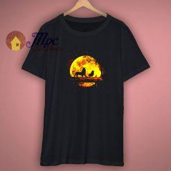 Simba Timon Pumba Lion King Moon Funny Black Shirt