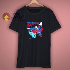 Vintage 90s Superman Statue Of Liberty Black Shirt