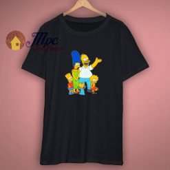 Vintage The Simpsons Family Women Shirt
