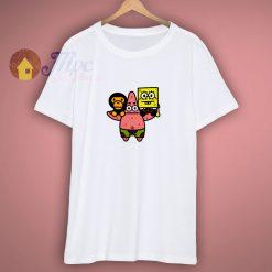 2008 Baby milo Bape X Spongebob Rare T Shirt