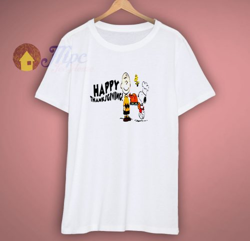 Charlie Brown Snoopy Happy ThanksGiving T Shirt