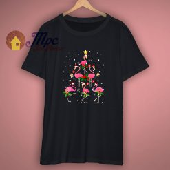 Christmas Flamingo Happy T Shirt