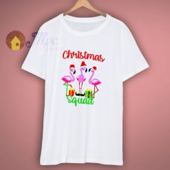 Christmas Flamingo Squad T Shirt