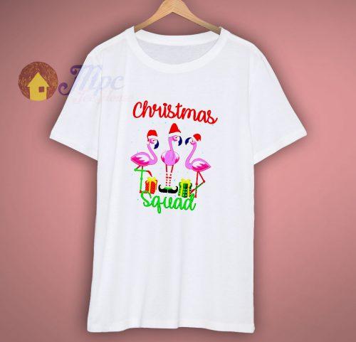 Christmas Flamingo Squad T Shirt