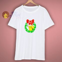 Christmas Pikachu with Wreath T shirt