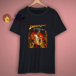 Classic 80s Adventure Indiana Jones RAIDERS Of The Lost Ark Movie Poster Short Sleeve T Shirt