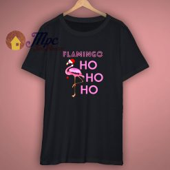 Cute Flamingo Santa Hat T Shirt