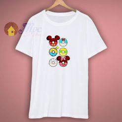 Disney Donuts Mickey Mouse Minnie Donald Goofy T-Shirt