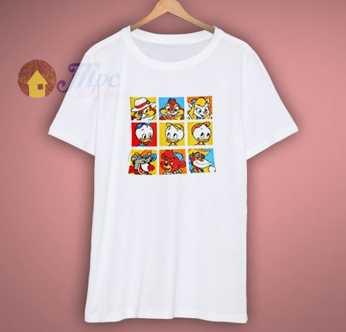 Disney Juniors Classic Cartoon Character Squares T Shirt