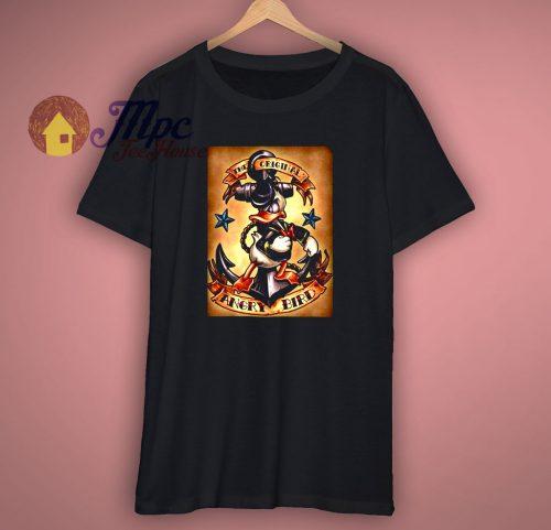Donald Duck Funny Art Disney Bird T-Shirt