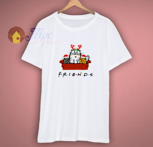 Friends Cat Merry Christmas Friends The Series Parody White T Shirt