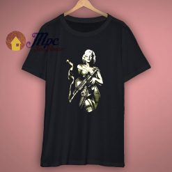 Funny Graphic T Shirt Marilyn Monroe Gun Printed