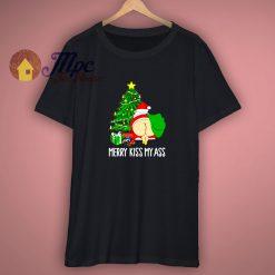 Funny Santa Mery Kiss My Ass Christmas T Shirt