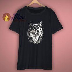 Herren Rundhals T Shirt Kurzarm 3D Wolf