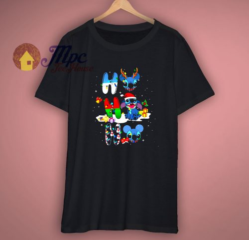 Ho Ho Ho With Stitch Christmas T-Shirt