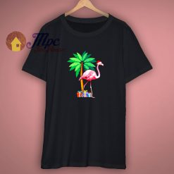 Holiday Flamingo Santa Gift T Shirt