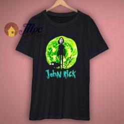 John rick mashup john wick and rick morty funny shirt