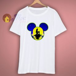Little Mermaid Ariel Mickey Head Outline T Shirt