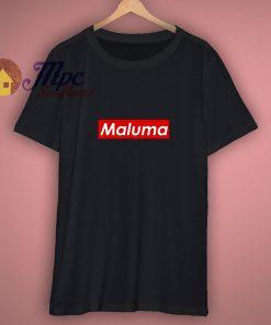 Maluma Red Block Popular Colombian Singer Music Lovers Fan T Shirt